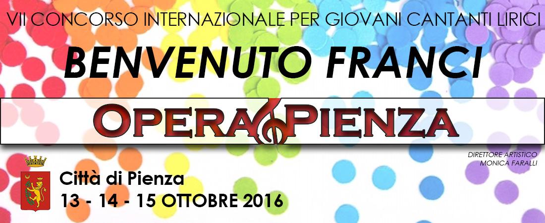 """VII Concorso Internazionale per giovani Cantanti Lirici """"Benvenuto Franci"""""""