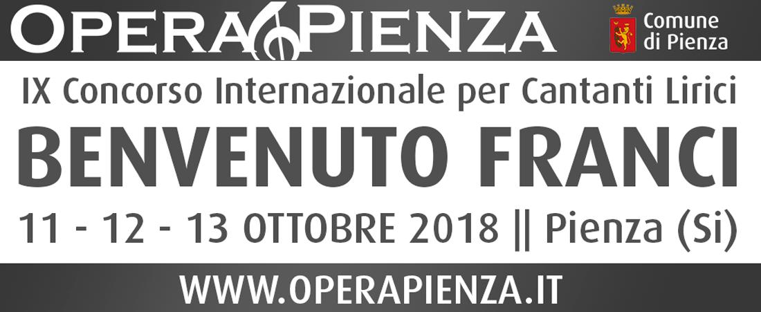 """IX Concorso Internazionale per Cantanti Lirici """"Benvenuto Franci"""""""